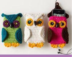 Crocheted Owl Cel Phone Cozy: FREE Pattern!