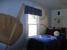 Kids Bedroom Decor On Baseball Themed Ideas