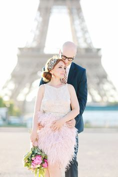 whimsical elopement inspiration in Paris - photo by Olga Thomas of Chic Wedding Day http://ruffledblog.com/whimsical-elopement-inspiration-in-paris