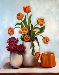 Tulips and Dahlias – Ali Wood Artist