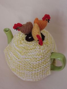 TeaCosyFolk Chickens Tea Cosy and Egg Cosy Knitting Pattern to knit your own! | eBay
