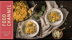 Μακαρόνια στον φούρνο με μπρόκολο, γιαούρτι και φέτα Fried Rice, Fries, Spaghetti, Ethnic Recipes, Youtube, Food, Yogurt Recipes, Essen, Meals
