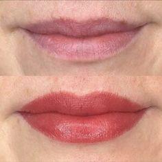 Lip Blush — Laurel Permanent Makeup Eyebrows, Eyebrow Makeup, Lip Color Tattoo, Eye Makeup Pictures, Cosmetic Tattoo, Microblading Eyebrows, Dark Lips, Lip Fillers, Lip Tint