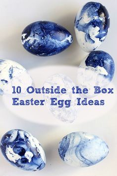 Tired of the old Paas Easter Egg decorating kit?  Try one of these simple and fun DIY Easter Egg ideas.  No special skills or crafting knowledge required!