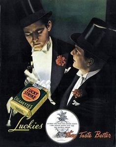 vintage ad for Lucky Strike was so beautifully done with it's contrast and composition