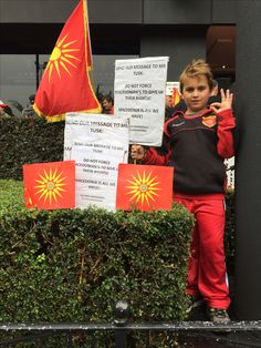 Today's rally in Melbourne. Showing our support for our Macedonia 🇲🇰