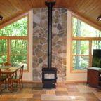 Wood burning stove in three season