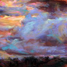 Cloudy Sunrise - Susan Roden - pastel