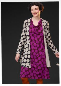 Northern Lights – GUDRUN SJÖDÉN ... The shapes with jacket over draped-neck tunic