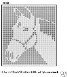 Horse Filet Crochet Pattern   eBay