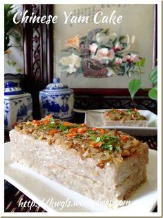 Chinese Steamed Yam And Pumpkin Cake (芋头金瓜糕) Steam Buns Recipe, Steam Recipes, Asian Snacks, Asian Desserts, Yam Cake Recipe, Taro Cake, Resep Cake, Cake Recipes, Dessert Recipes