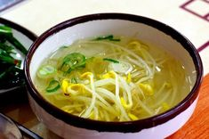 : Korean Bean Sprout Soup (Kongnamul Gook) Recipe This Picture by The Recipe can be found HERE I do not take credit for . Korean Dishes, Korean Food, Vegetarian Recipes, Cooking Recipes, Healthy Recipes, Healthy Food, Bean Sprout Recipes, Korean Bean Sprout Soup Recipe, Asian Recipes