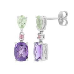 Multi-Gemstone Earrings in Sterling Silver, available at #HelzbergDiamonds