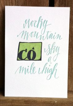 Colorado State Series Letterpress Print by 1canoe2 on Etsy
