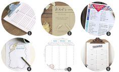 Imprimibles gratis: 18 planificadores para tu día a día para imprimir - Cosas Molonas