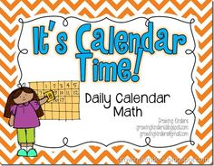 It's been about a year since I posted my It's Calendar Time daily calendar activities. My kiddos were SO successful with math this y. Kindergarten Calendar, Calendar Activities, Classroom Calendar, Kindergarten Classroom, Teaching Math, Math Activities, Classroom Ideas, Teaching Ideas, Classroom Routines