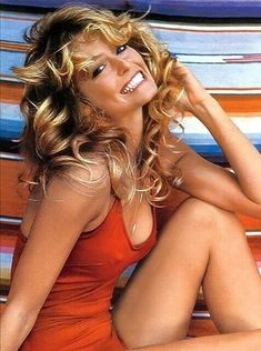 Farrah Fawcett Refrigerator / Tool Box Magnet Farrah Fawcett, Tempest Storm, Catherine Bach, Star Actress, Golden Globe Award, Real Beauty, American Actress, Bathing Suits, Pin Up