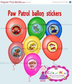 ON SALE 15 OFF Paw Patrol ballon stickers Paw by KitsandMore, $4.25