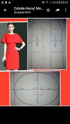 Diy Fashion, Fashion Dresses, Sewing Clothes Women, Plain Dress, Drawing Clothes, Pattern Drafting, Dress Sewing Patterns, Top Pattern, Sewing Hacks
