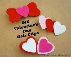 Snaps of Ginger: DIY Valentine Hair Clips