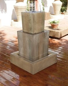 Free Shipping and No Sales Tax on the Double Obtuse Garden Water Fountain from the Outdoor Fountain Pros.