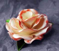 GORGEOUS roses from cardstock with template and tutorial!