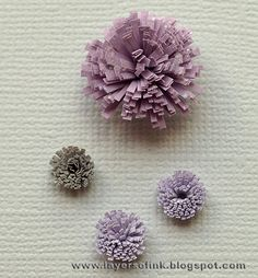 quilled fringe flowers - tutorial