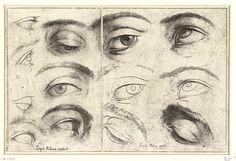 Jusepe Ribera, Studies van ogen (1620-1624), collectie Rijksmuseum