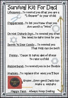 Dad Survival Kit by CindisCandyCreations on Etsy, $1.99