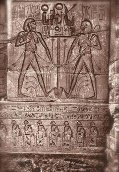 Ancient Egyptian Fine Art, Lot of 3 Vintage Original 1940s Lehnert & Landrock Postcards, Mysterious Sculptures and Hieroglyphs from Luxor.