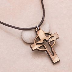 wood necklace cross - Google Search
