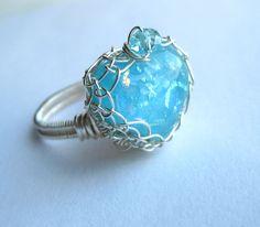 Baby Blue Aqua 7.25 ring  http://www.etsy.com/listing/98877980/baby-blue-aqua-heart-dichroic-glass-ring