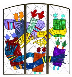 Stained Glass Window – Flora Rosefsky, Artist Simchat Torah, Window Design, Stained Glass Windows, Flora, Holiday, Artist, Projects, Log Projects, Vacations