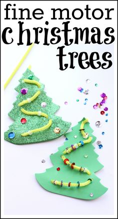 Practice fine motor skills and make these adorable Christmas trees!