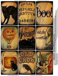 Imprimibles vintage gratis de Halloween  -    Free Halloween Vintage Printables