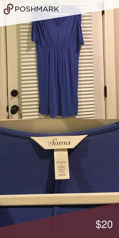 Soma size Large dress Extremely soft and comfortable casual dress! Perfect condition. Soma Dresses Midi