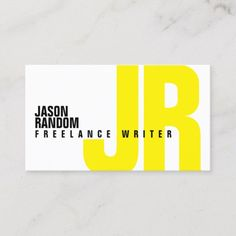 Shop Big bold initials cover yellow business card created by TwoFatCats. Make Business Cards, Business Cards Layout, Creative Business Cards, Premium Business Cards, Digital Business Card, Stationery Design, Branding Design, Identity Branding, Visual Identity