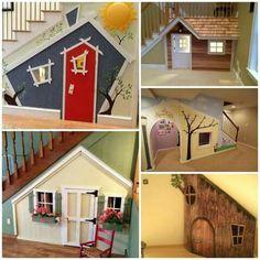 Kids under stair playhouse