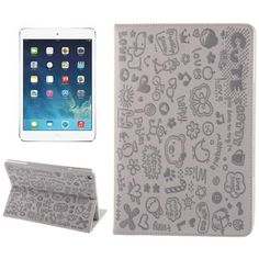 For+iPad+Air+Light+Purple+Magic+Girl+Pattern+Leather+Case+with+3+Gears+Holder