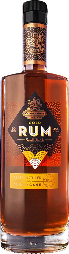 Our gold rum is barrel aged to enhance its flavor with the mellowing magic of American oak. A truly unique rum equal to a fine whiskey. Don't take our word for it, learn more here and pick up your own bottle of CopperMuse® Gold Rum. Beverage Packaging, Bottle Packaging, Paper Packaging, Packaging Design, Alcohol Bottles, Liquor Bottles, Wine Design, Bottle Design, Liquor Drinks