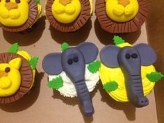 Elephant fondant cupcake toppers