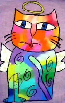 Laurel Burch Cats Art lesson plan