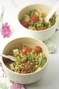 Asparagus, Zucchini and Halloumi Salad | Halloumi Salad, Asparagus ...