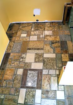 Rusticvermontweddings upcycled mismatched tiles make a for Granite remnant cost per square foot