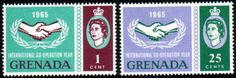 Postage Stamps of Grenada 1965 International Co-operation Year Set Fine Other West Indies and British Commonwealth Stamps HERE!
