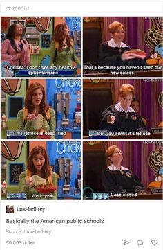Ya I can't eat lettuce anymore, my school ruined it for me and now most of the time it makes me wanna puke. Funny Quotes, Funny Memes, Hilarious, Jokes, Funny Pins, Funny Stuff, Best Of Tumblr, Old Disney, Public School