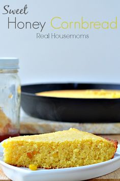 Sweet Honey Cornbread | Real Housemoms | This is the most moist cornbread I've ever had!