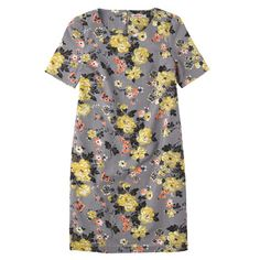 Winter Rose Shift Dress | Cath Kidston | A new cotton shift dress that slips on easily, and looks equally elegant with flats and pumps. A classic style in an antique rose print that will dress up beautifully for occasions, but eases up nicely for daytime dos.