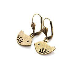 Tweet Earrings, £9, now featured on Fab.