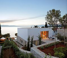Contemporary Island Vacation Home at the Adriatic Sea on Krk Island. All about the view! #dreamhomes